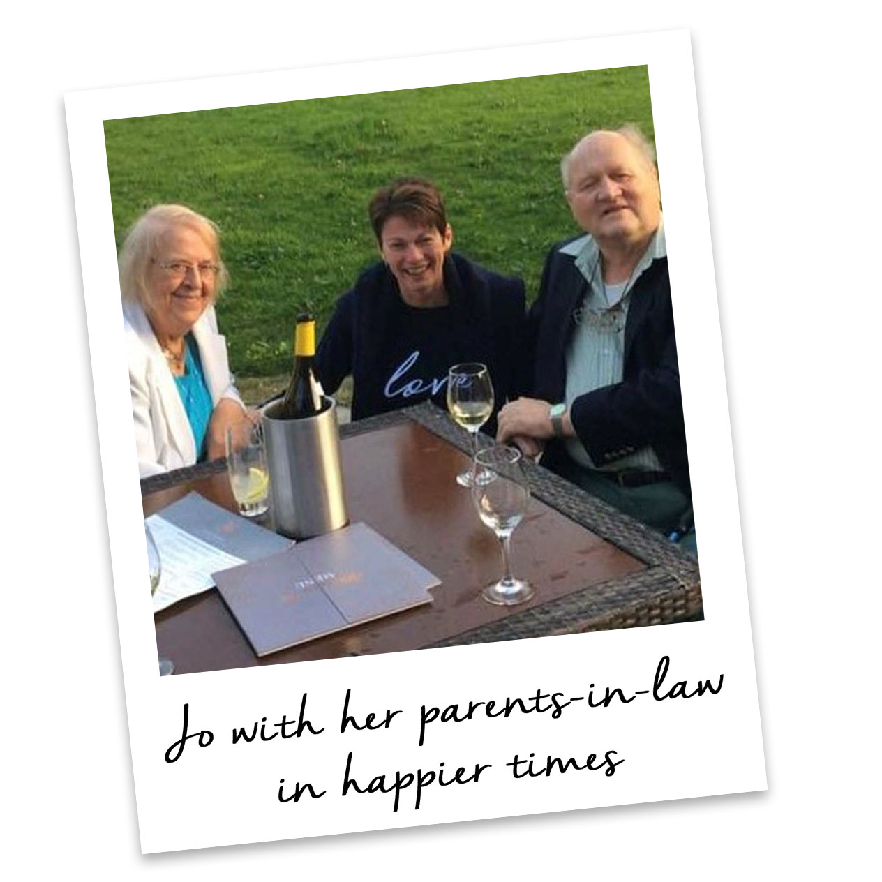 Jo with her parents-in-laws