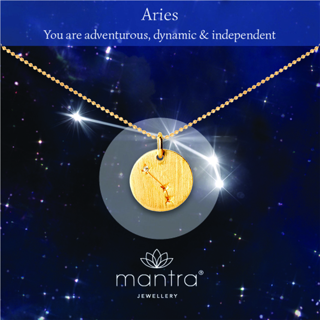 mantra aries star map aries zodiac necklace