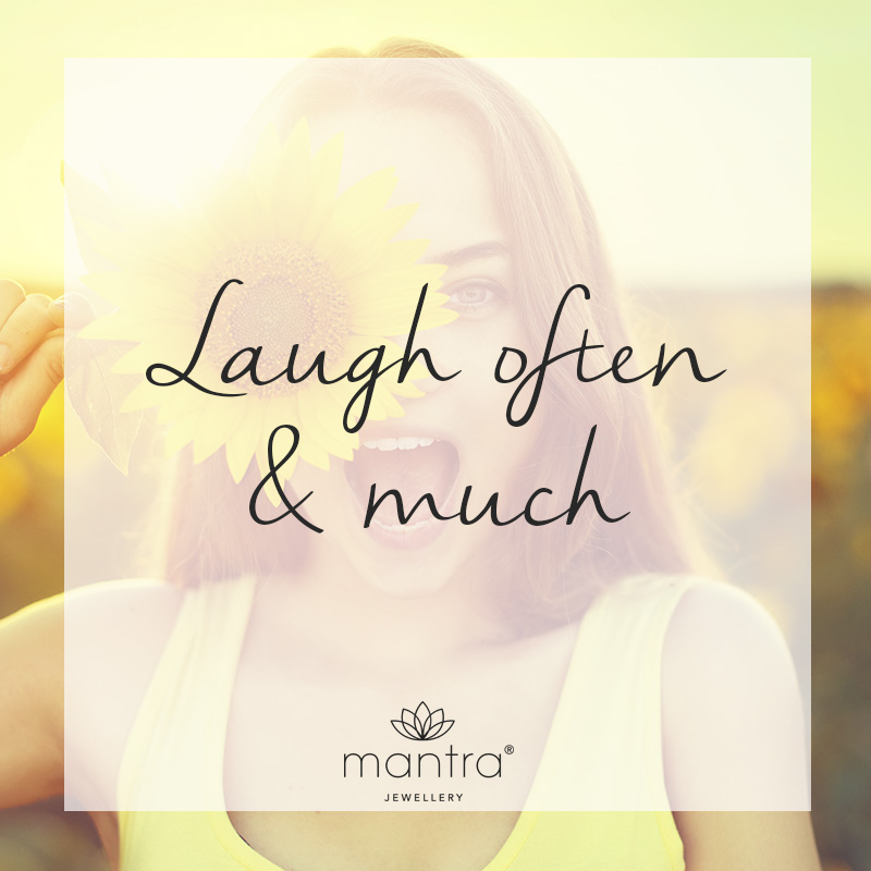 mantra laugh often necklace