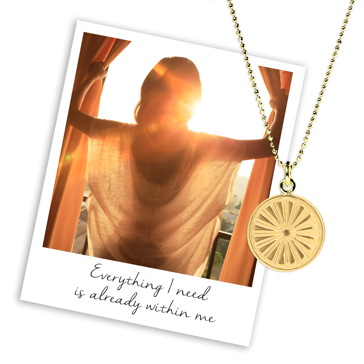 mantra sun rays necklace