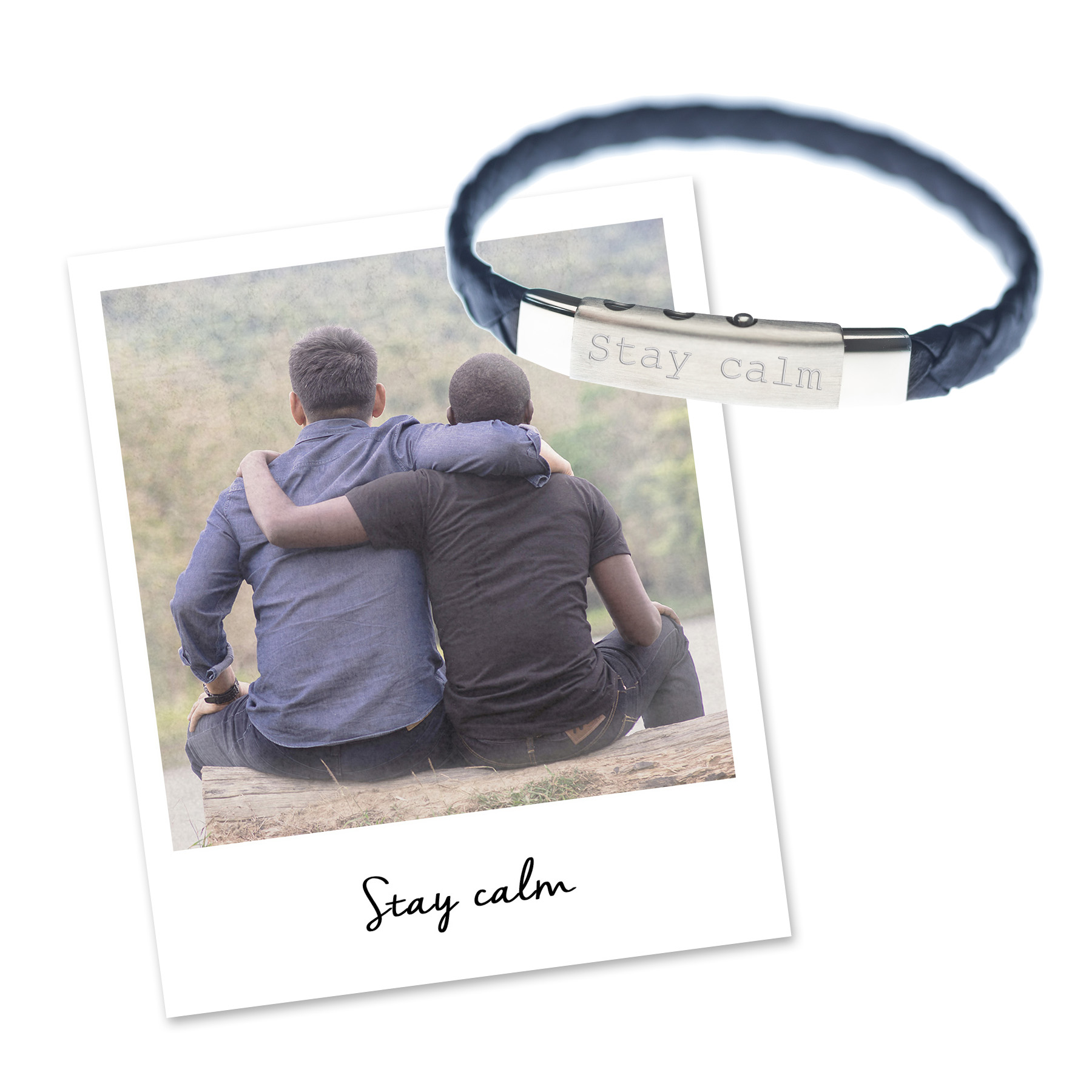mantra charity mens bracelet for calm