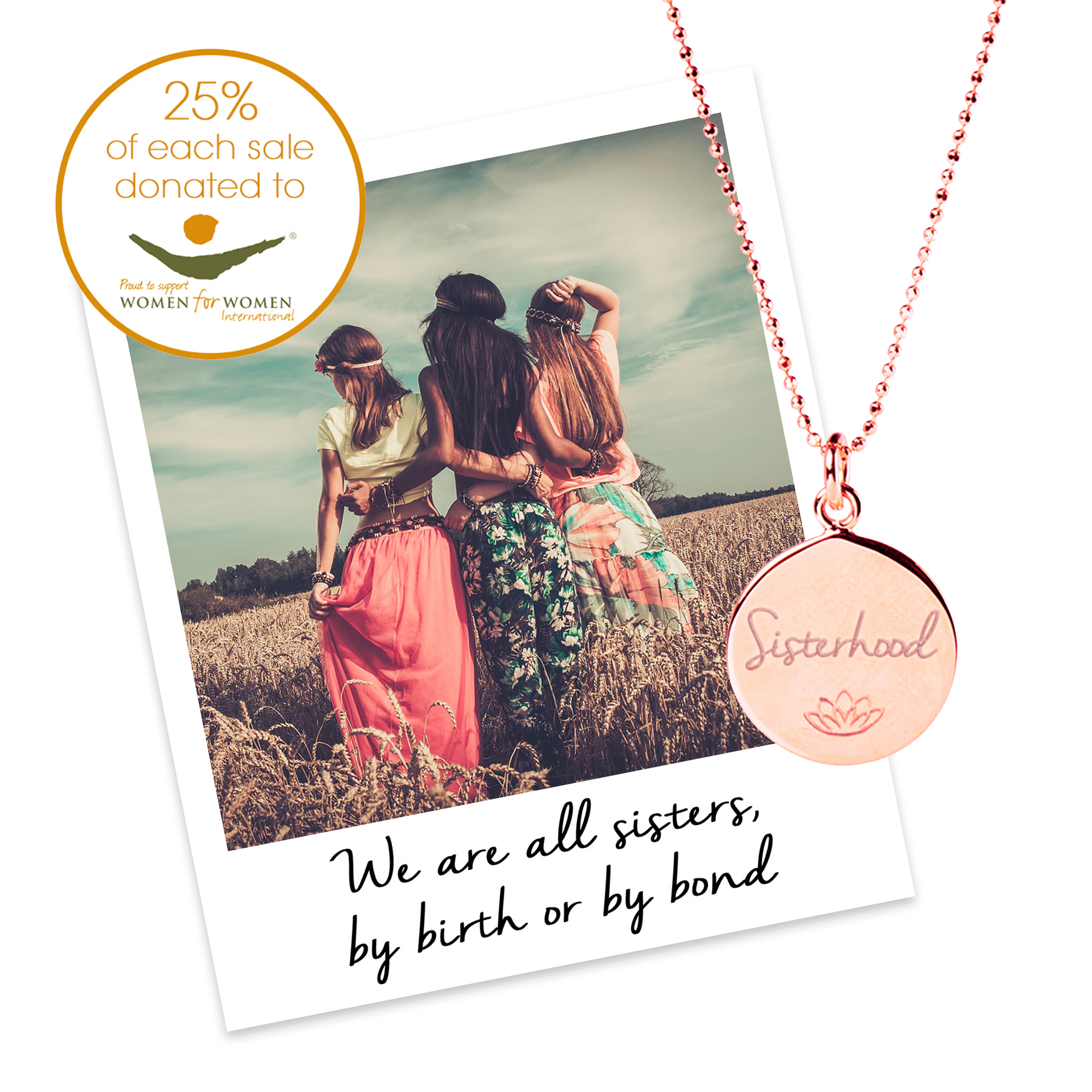 charity necklace for women for women international