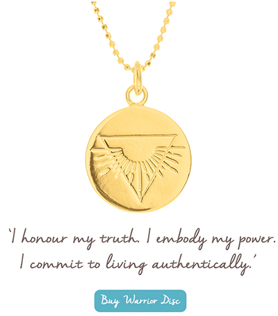 nicky clinch mantra warrior disc necklace