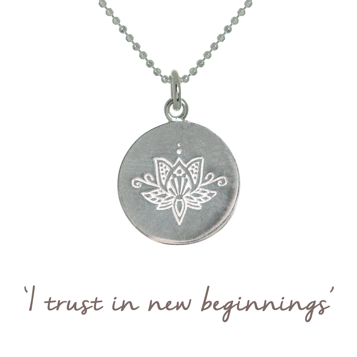 mantra lotus necklace