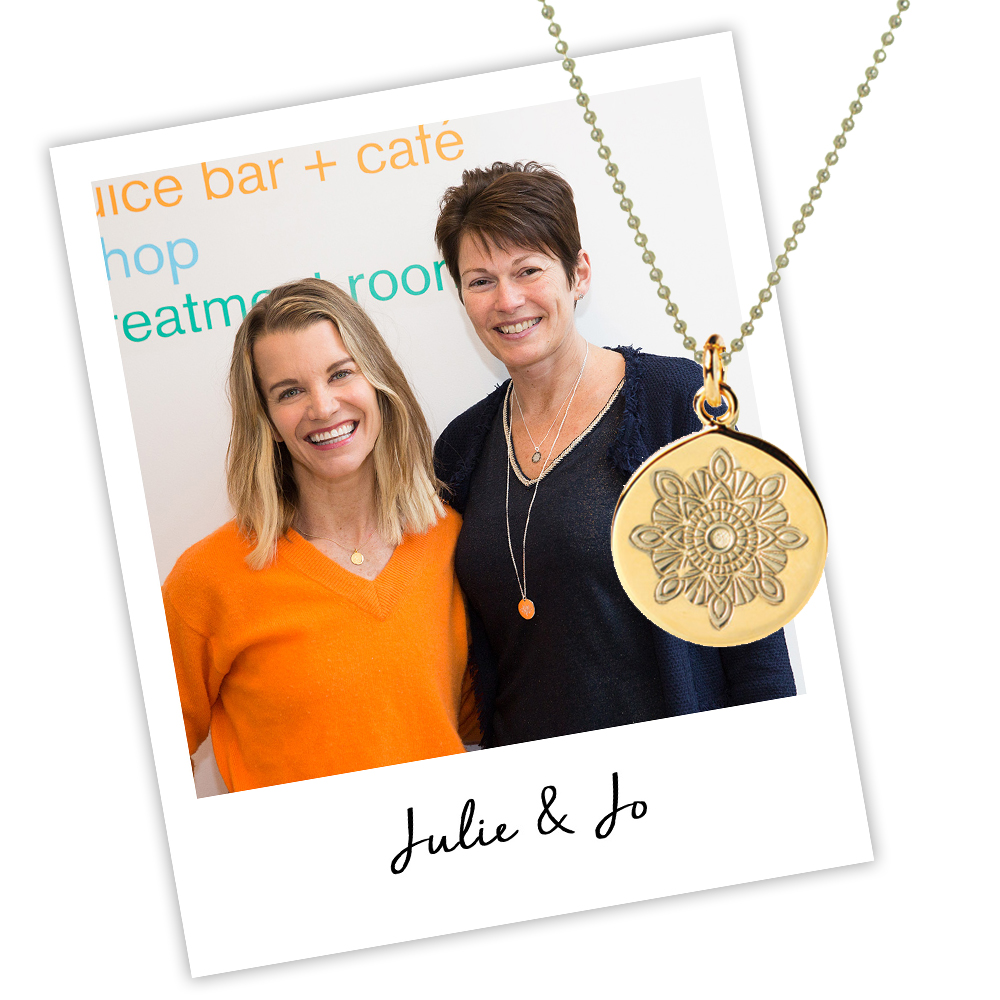 Julie Montagu and Jo Stroud wearing Recharge Necklace