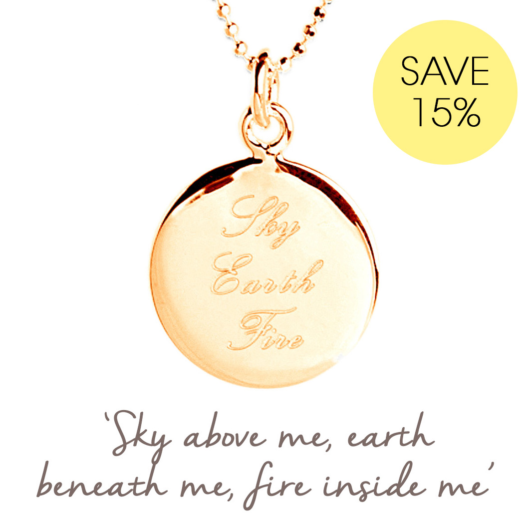 sky earth fire necklace
