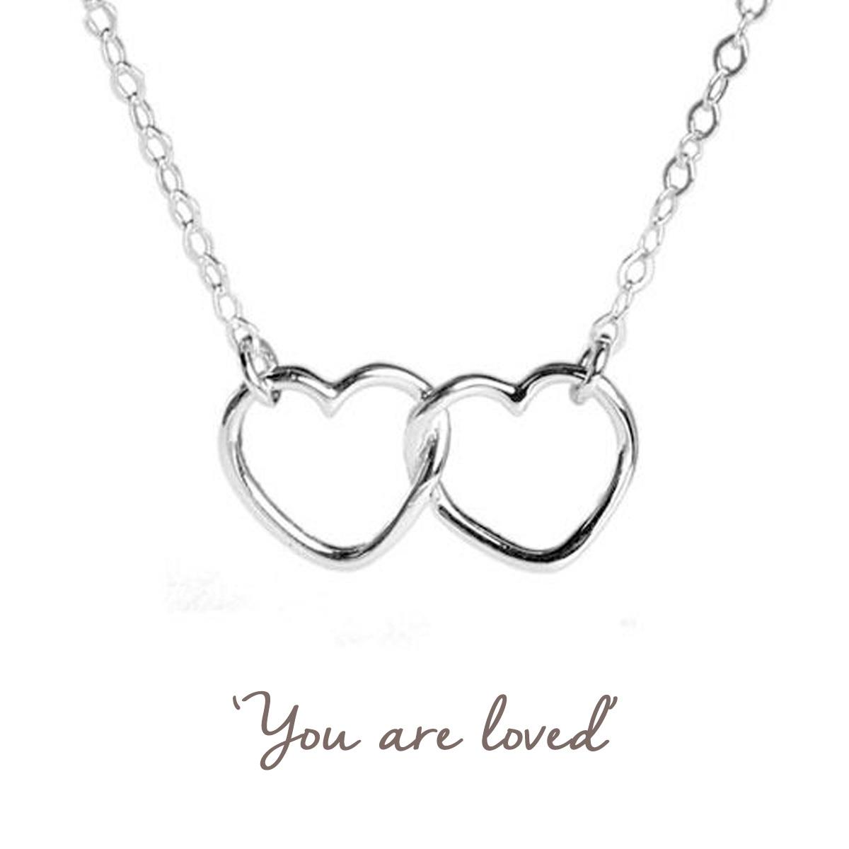linked hearts valentines necklace