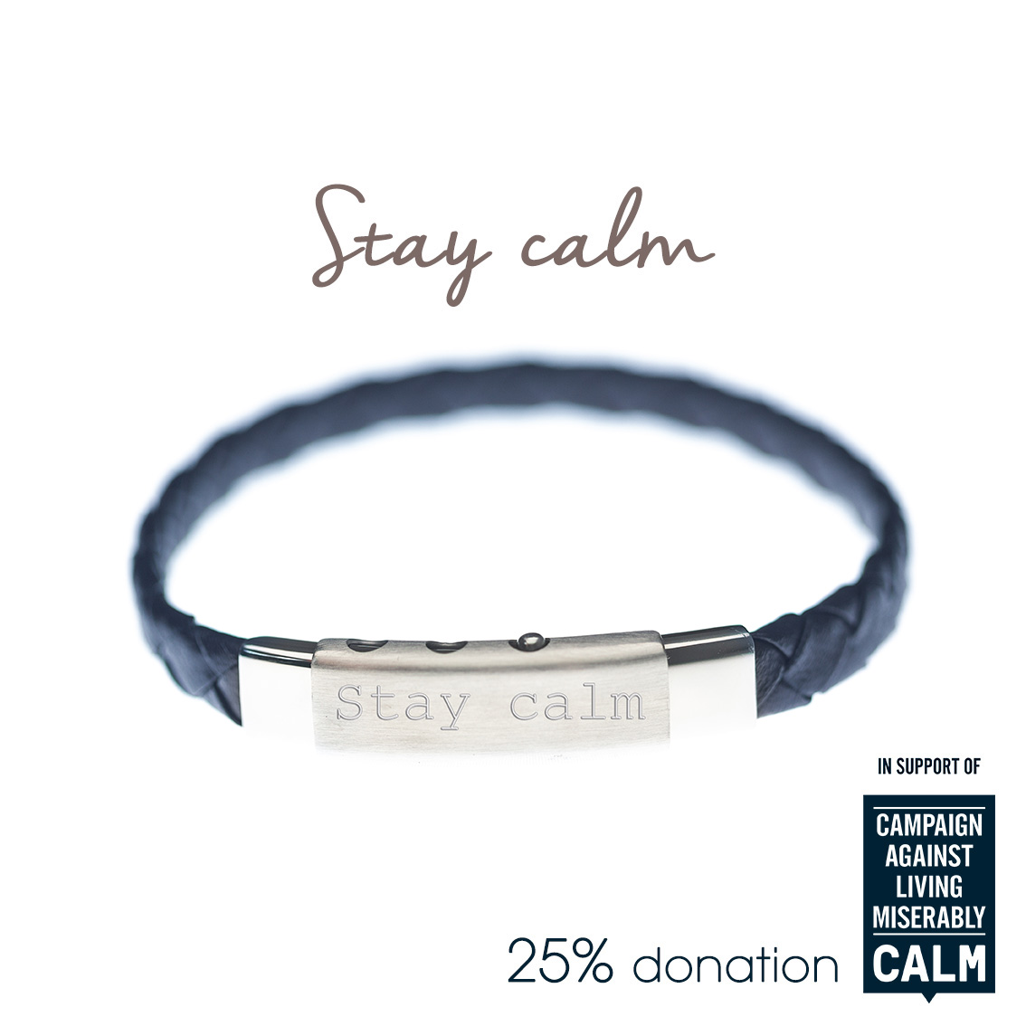calm mens charity bracelet