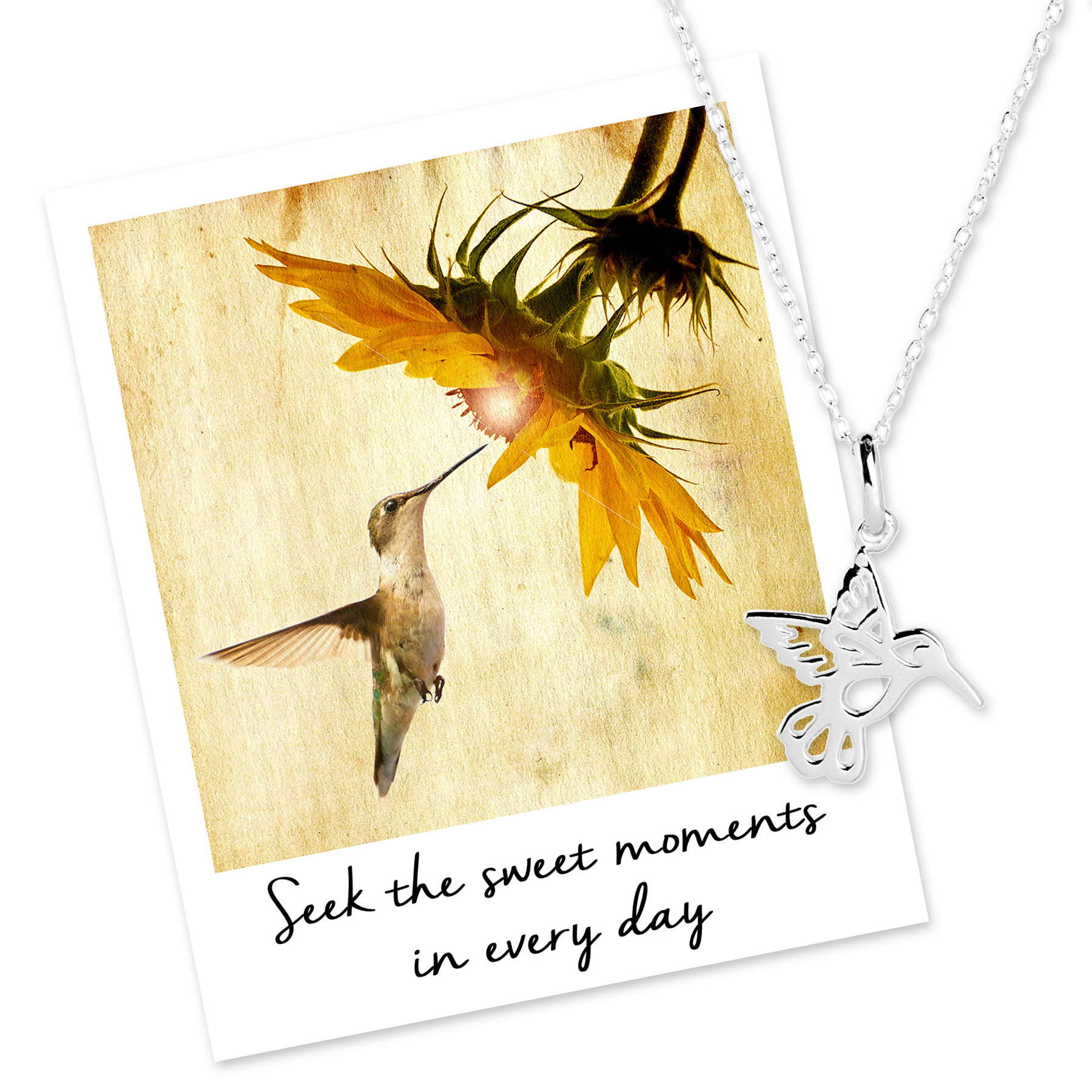 Seek sweet moments with Hummingbird Necklace