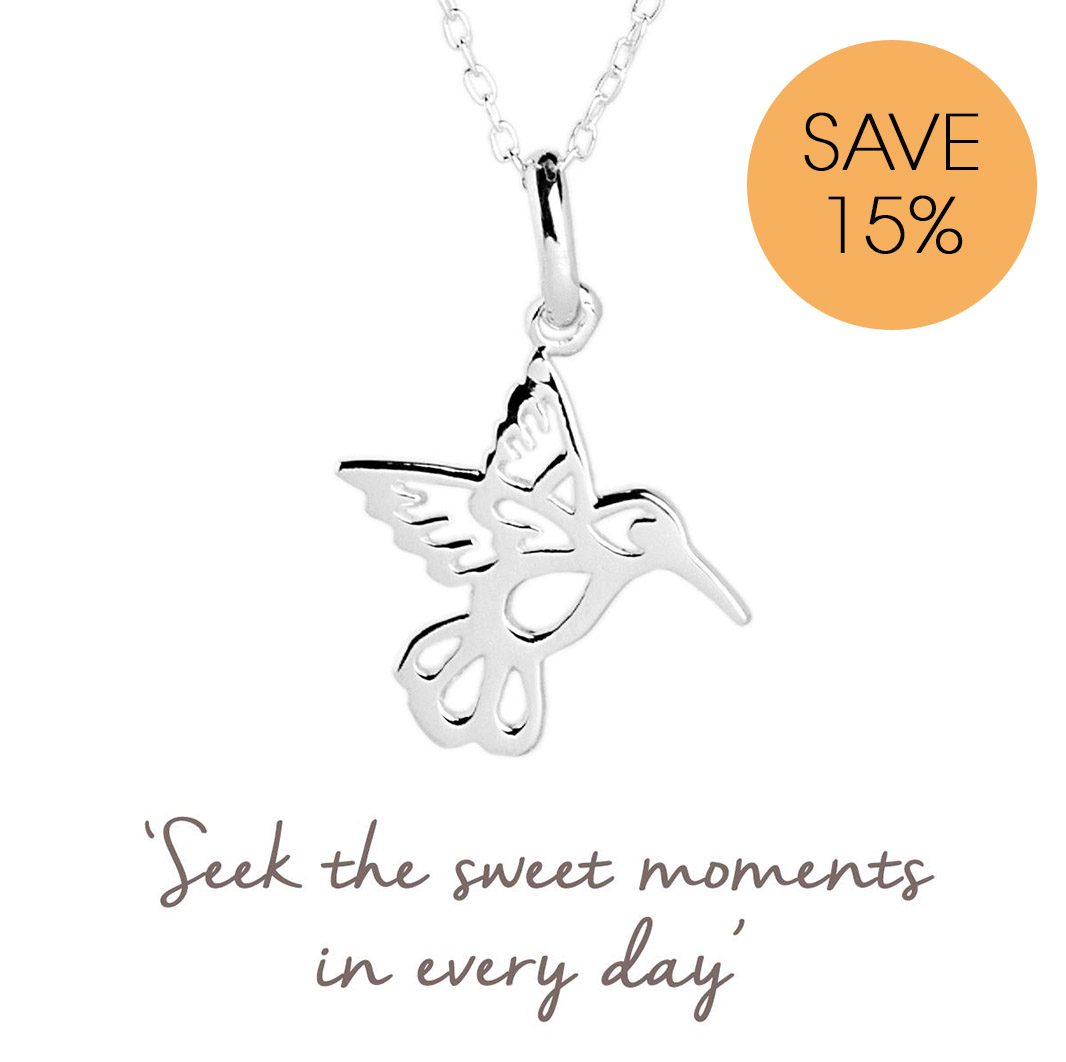 Hummingbird necklace for sweet moments