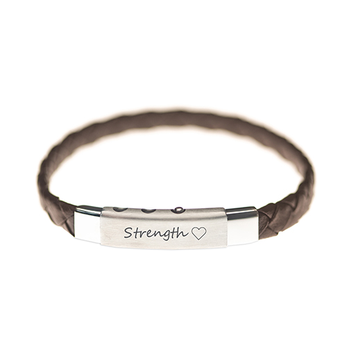 my mantra mens valentines leather bracelet