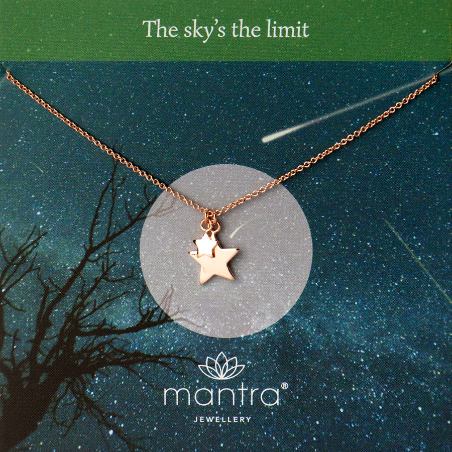 mantra jewellery star necklace