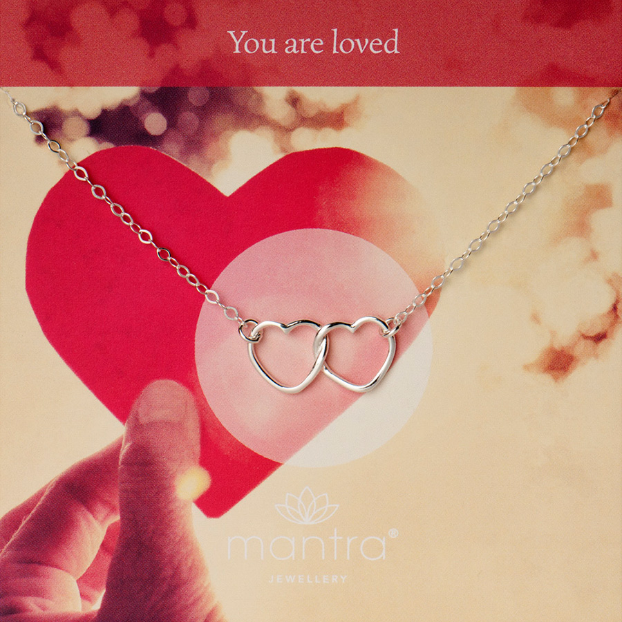 You are loved necklace, mantra jewellery