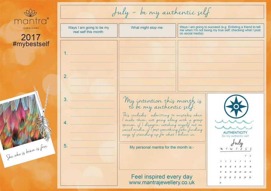 FREE Download inspirational July Planner