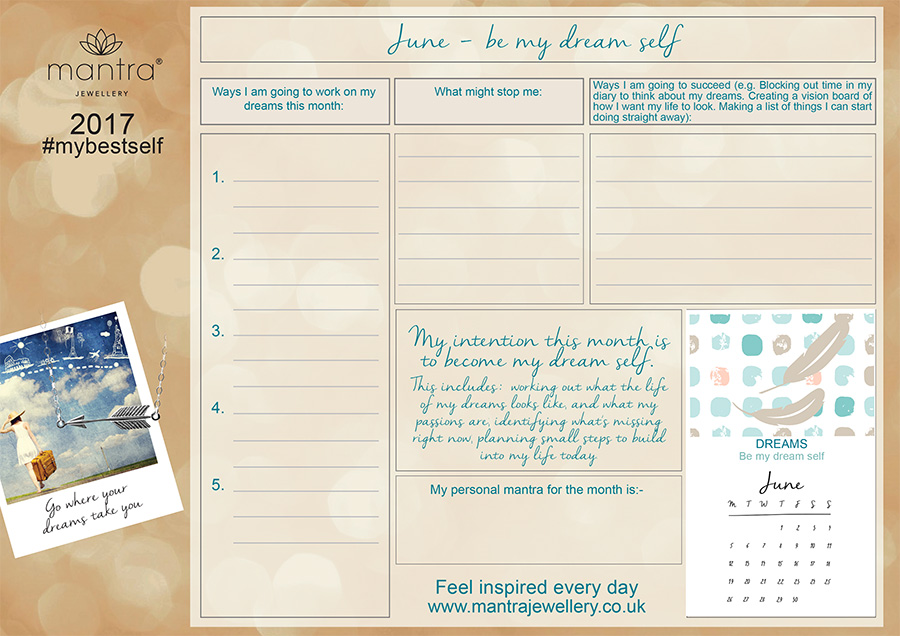 FREE Download inspirational June Planner