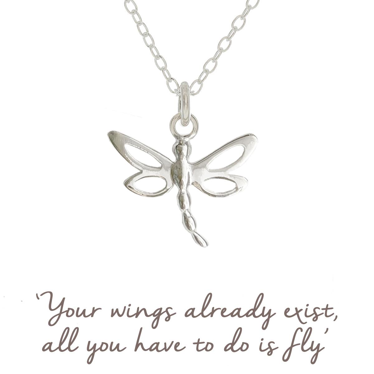 b806c87ed Sterling Silver Dragonfly Necklace   Lucky   Mantra Jewellery