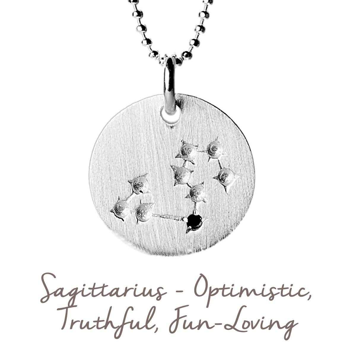 Sagittarius Star Map Necklace | Sterling Silver and Gold