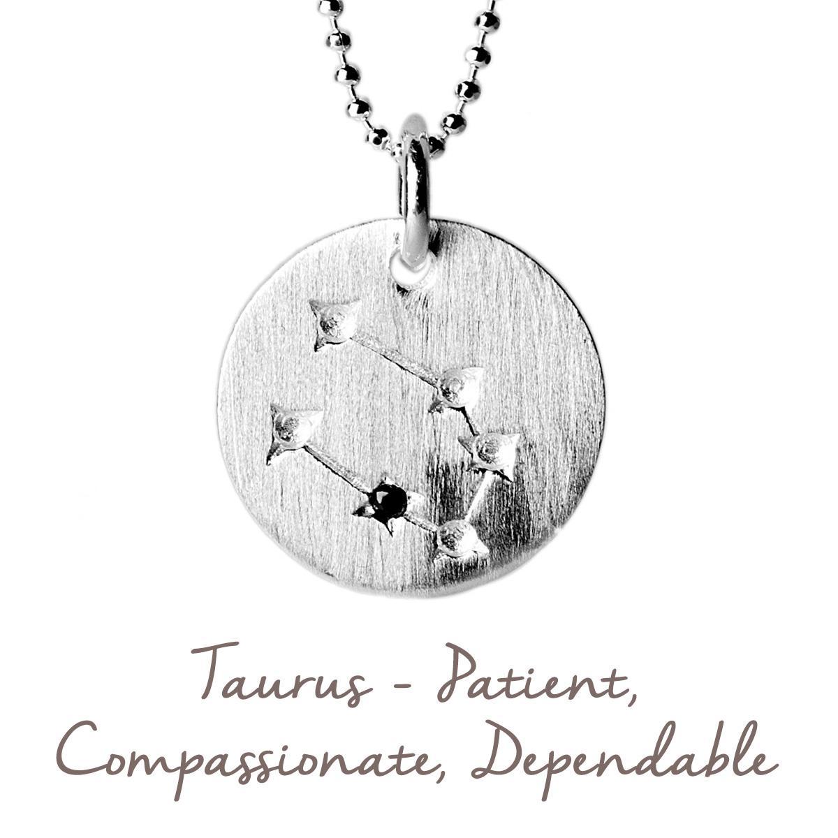 Taurus Constellation Necklace: Zodiac Constellation Necklace