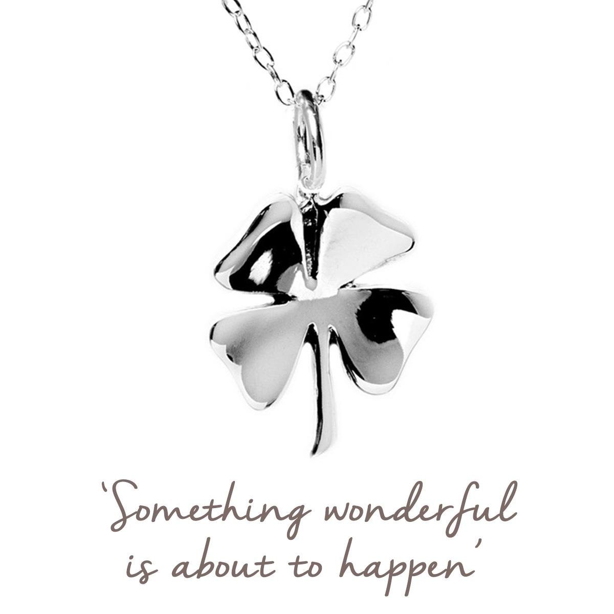 Clover Necklace in Sterling Silver