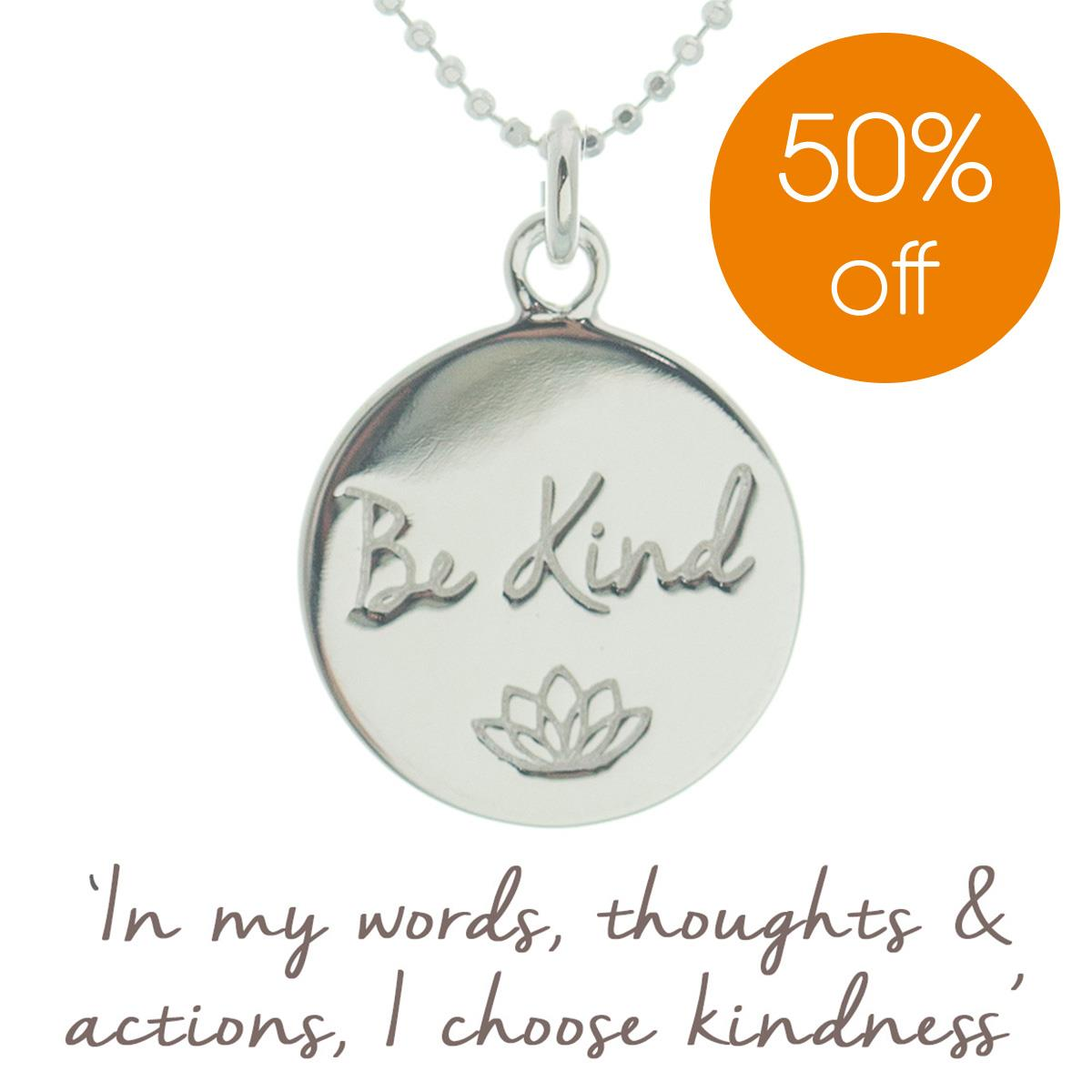 Be Kind Charity Necklace | Personalised | Mantra Jewellery