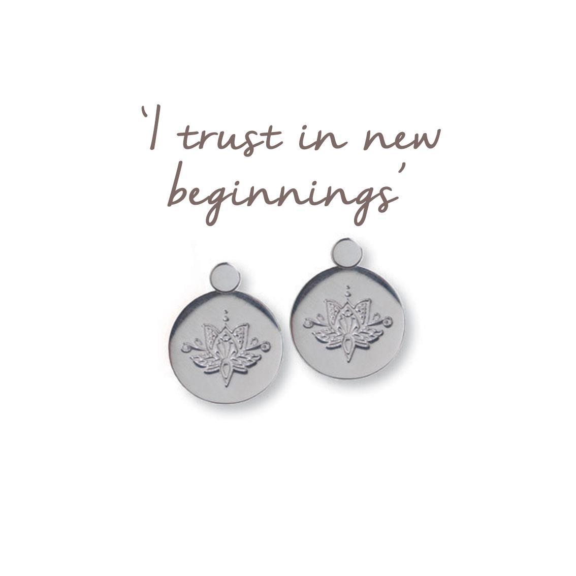 Lotus Flower Earrings New Beginnings Mantra Jewellery