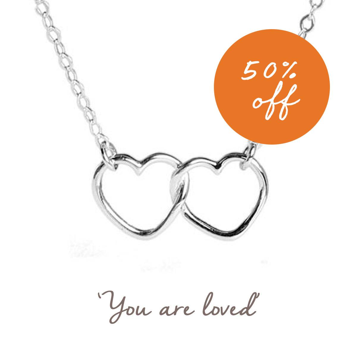 Linked Hearts Necklace | Love | Romantic Valentine's Day Gift