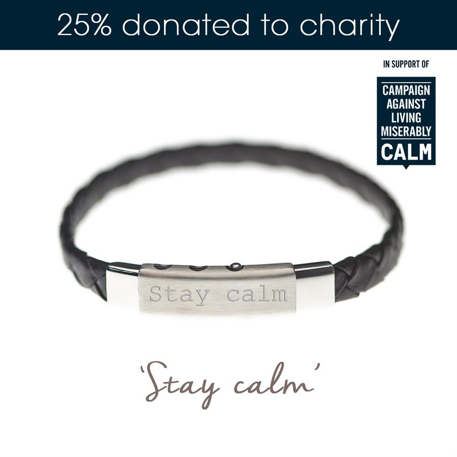 Stay Calm Mens Charity Bracelets