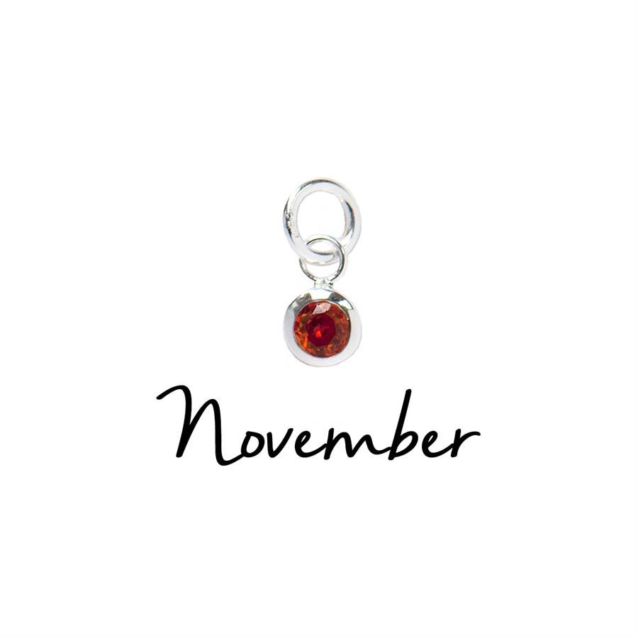 Sterling Silver November CZ Birthstone Pendant
