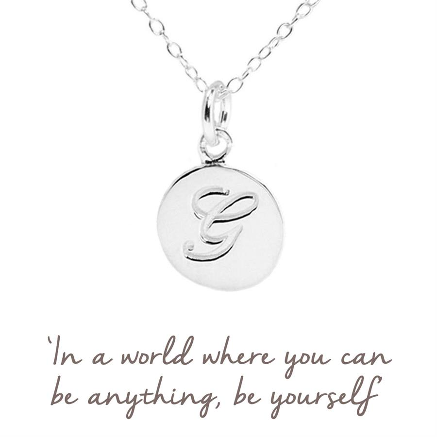 Sterling Silver Initial G Necklace