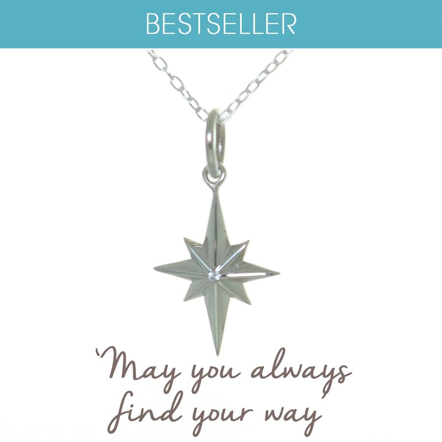 North Star Necklace in Sterling Silver