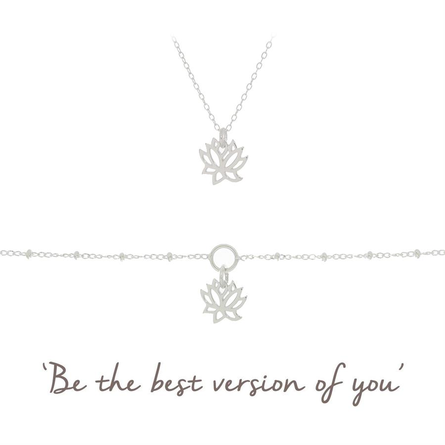 Lotus Gift Set - Lotus Necklace & Bracelet