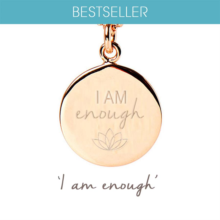 Gold I Am Enough Necklace