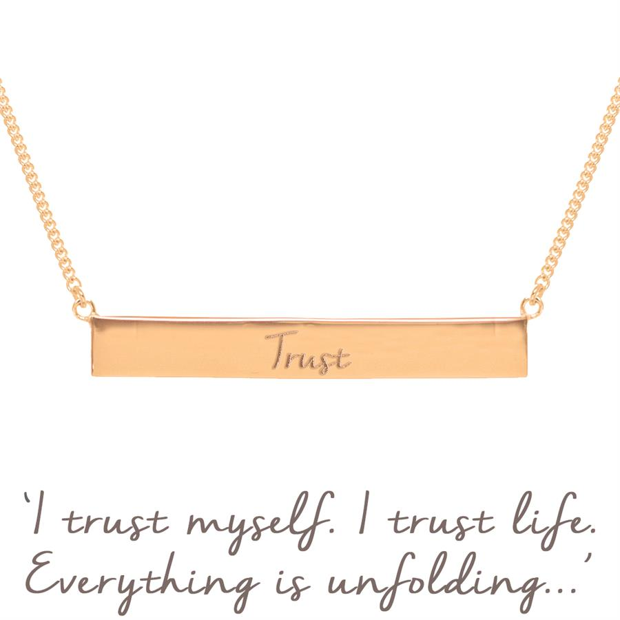 Rose Gold Nicky Clinch Trust Necklace