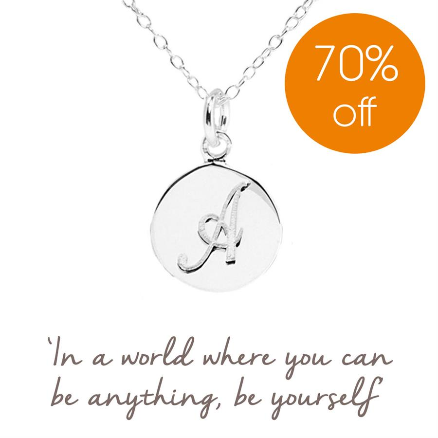 Sterling Silver Initial A Necklace