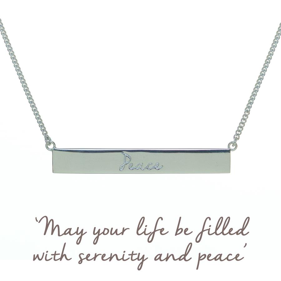 Peace Bar Necklace