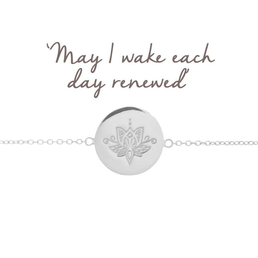 Sterling Silver Lotus Flower Renewal Bracelet