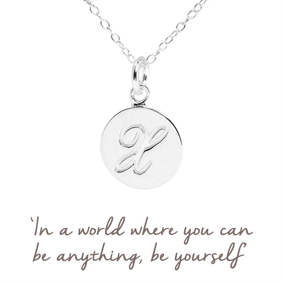 Sterling Silver X Initial Necklace