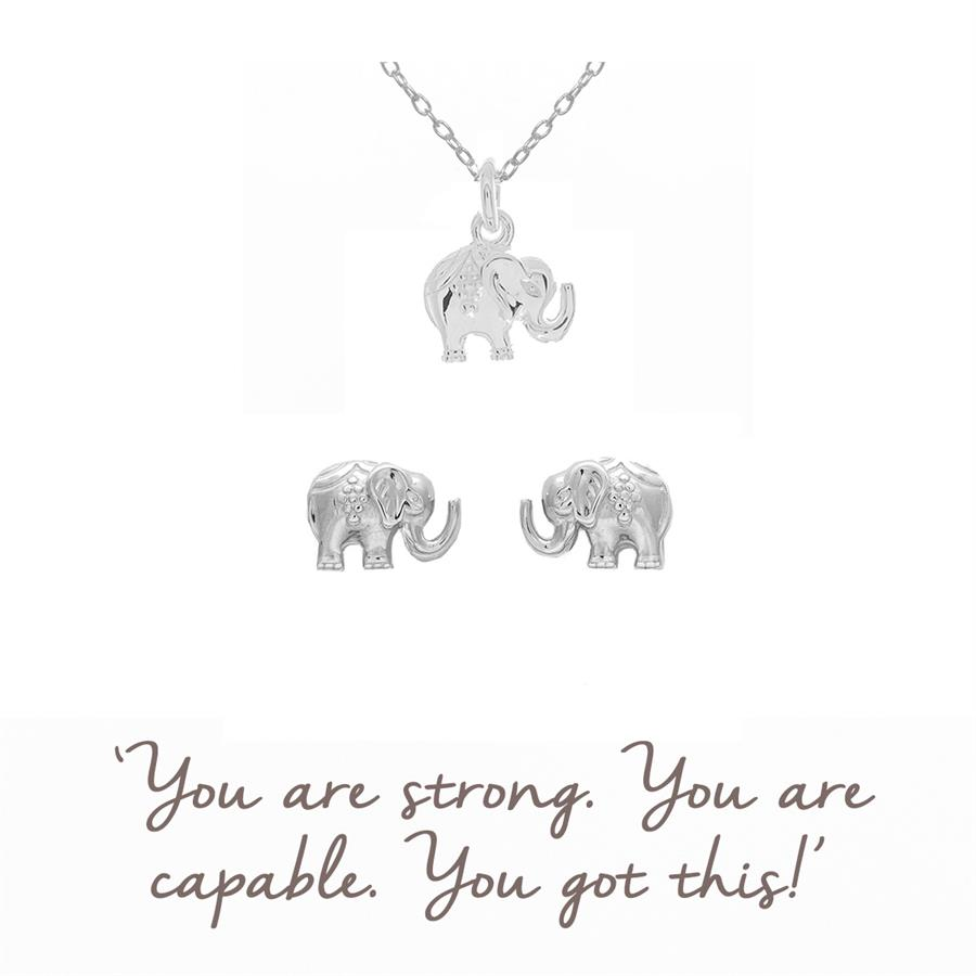 Elephant Necklace & Earrings Gift Sets