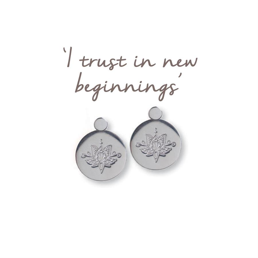 Lotus Flower Earrings New Beginnings Mantra Jewellery