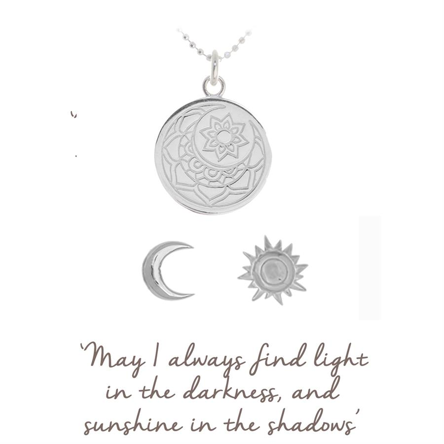 moon and sun necklace and earrings