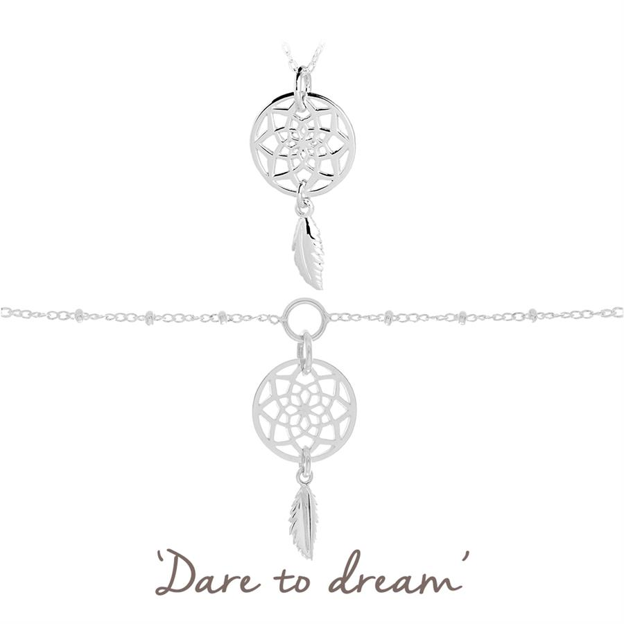 dreamcatcher necklace and bracelet set