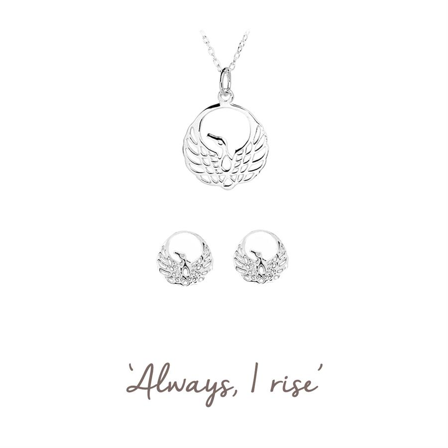 Phoenix Necklace and Earrings Set