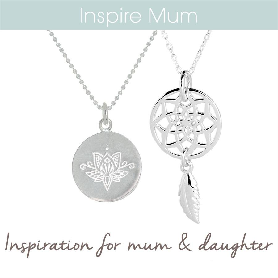 Sterling Silver Lotus and a Dream catcher necklace