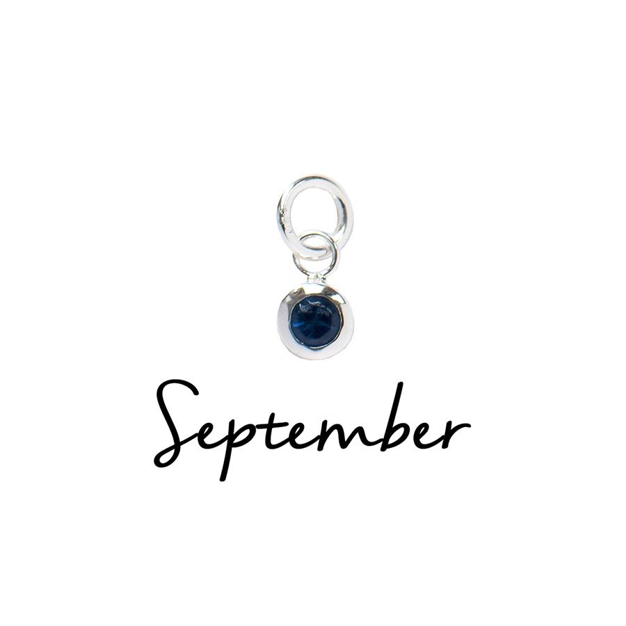 Sterling Silver September CZ Birthstone Pendant