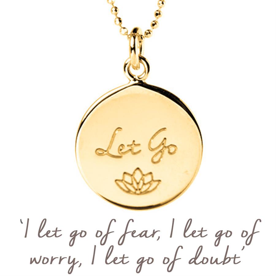 Personalised Gold Let Go Necklace