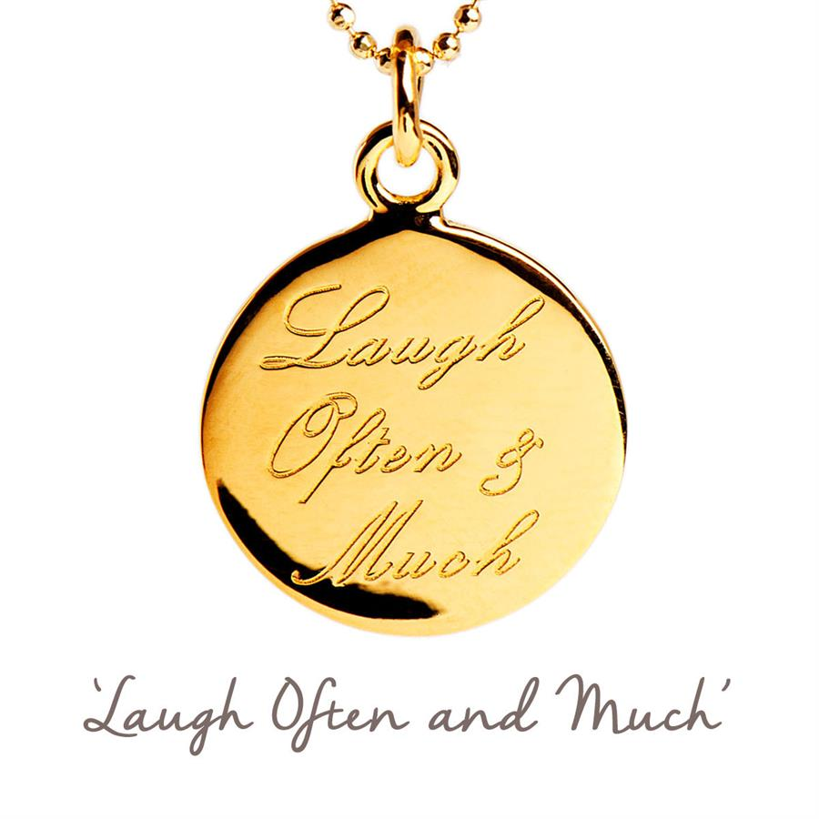 Rose Gold Gold Laugh Often and Much Necklace