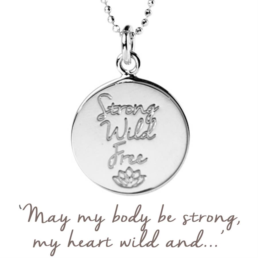 Personalised Gold Strong Wild Free Necklace