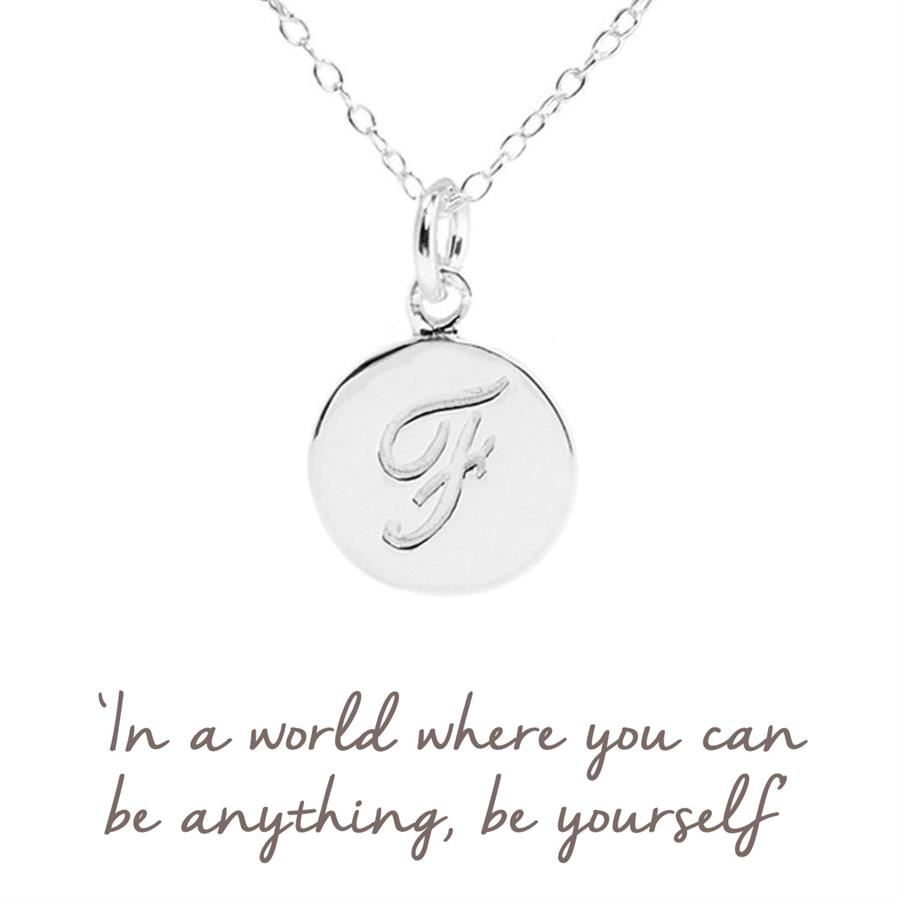 Sterling Silver Initial F Necklace