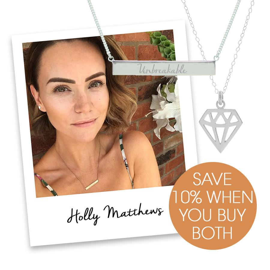 holly matthews self belief necklace set