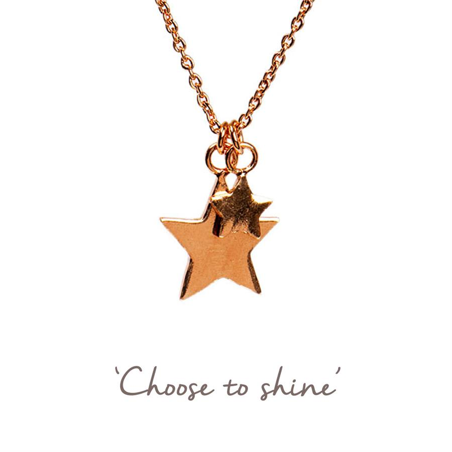 Yellow Gold Stars Necklace